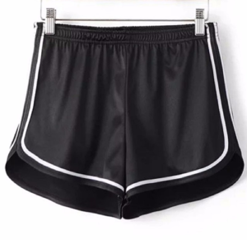 Drawstring Women Hot Shorts Casual Anti Emptied Cotton Contrast Elastic Waist Correndo Short Pants Fast Drying