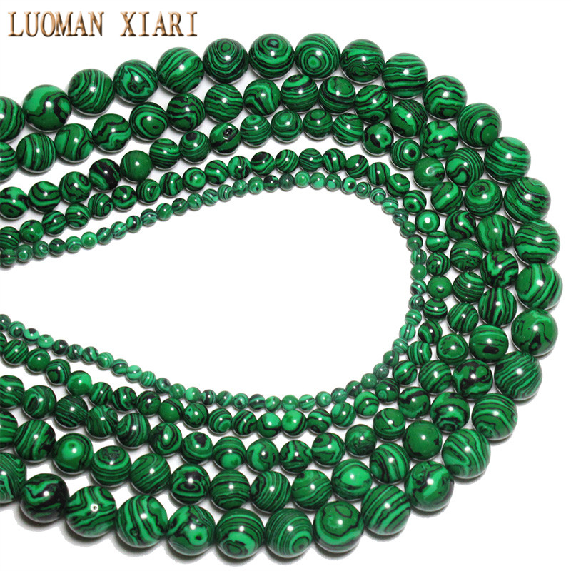 from green wholesale bracelet for beads item stone round shape malachite mm synthesis natural jewelry making strand in diy