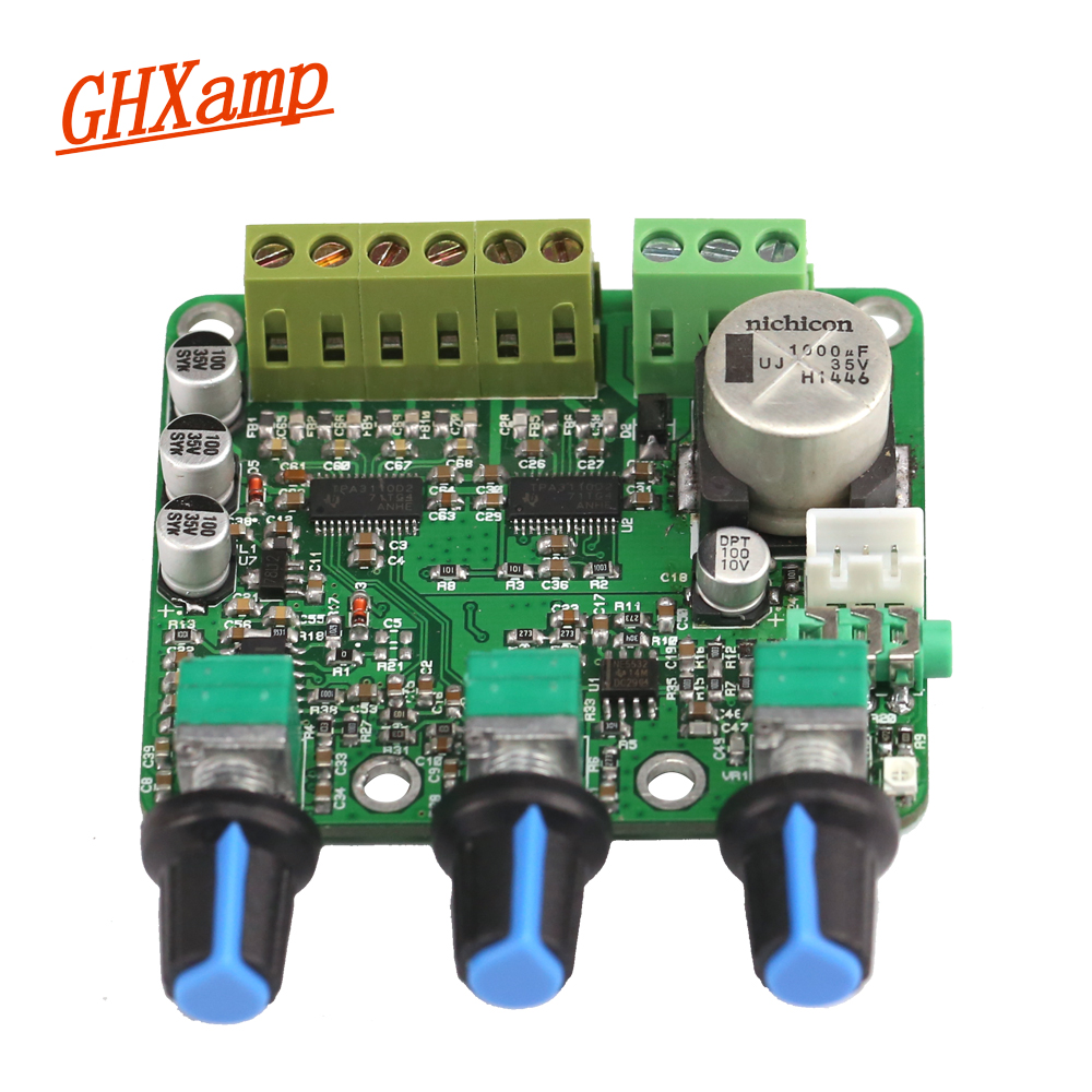 Ghxamp 2.1 ch 15*2 + 30 Вт сабвуфер Усилители домашние доска tpa3110d2 sub аудио стерео NE5532 amp для -конечные компьютерные Динамик DC 12 В 24 В