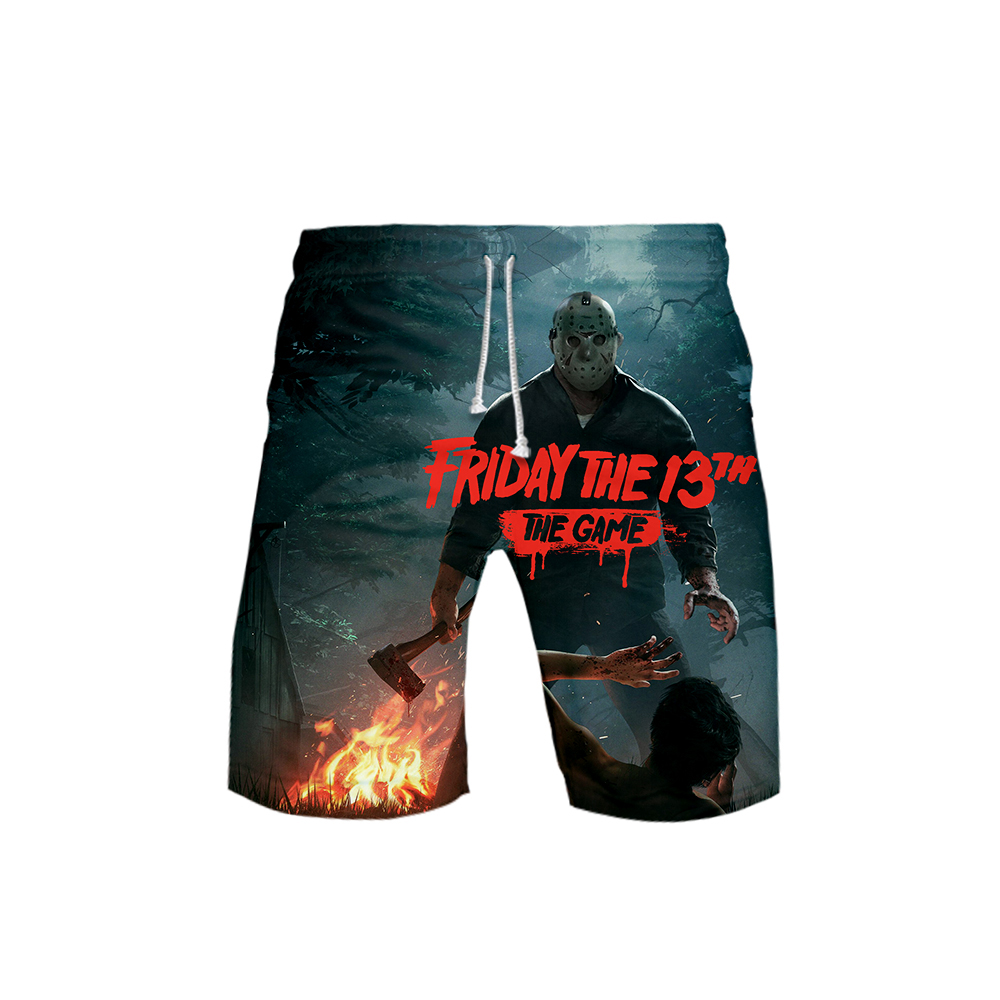 Trousers Short Knee-Length Men's Casual New The Solid Video-Game Friday 3d-Print 13th
