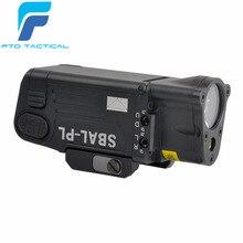 FTD тактический фонарик SBAL-PL охотничье оружие Свет страйкбол Красный Лазерный Пистолет постоянный и стробоскоп свет Пикатинни