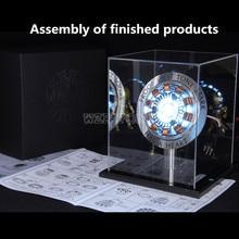 Мстители Железный человек 1/1 весы MK1 дуговой реактор модель игрушки DIY, иных металлических фигурку Запчасти USB светодиодный Железный человек реактор покрытый кожухом коллекция