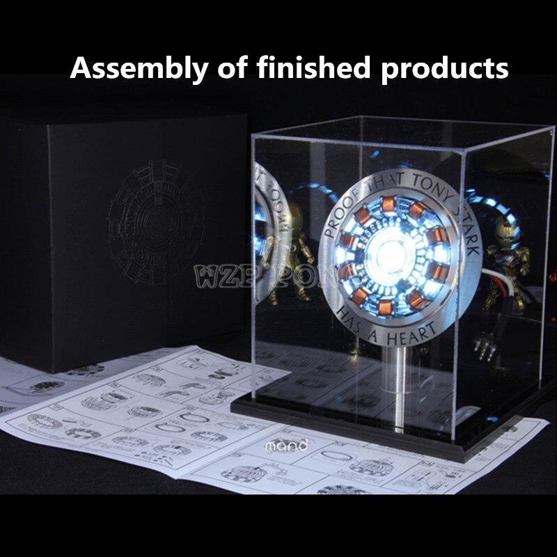 Avengers fer homme 1/1 échelle MK1 Arc réacteur modèle jouets bricolage métal Action Figure pièces USB LED fer-homme réacteur Collection