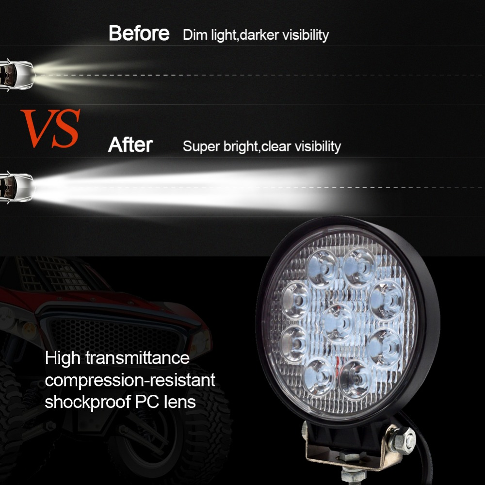 Image 5 - Safego 4 Inch 27W LED Work Light Flood Fog offroad ATV 4x4 Driving Lamp 12V for Motorcycle Tractor Truck Trailer SUV Boat 4WD-in Light Bar/Work Light from Automobiles & Motorcycles