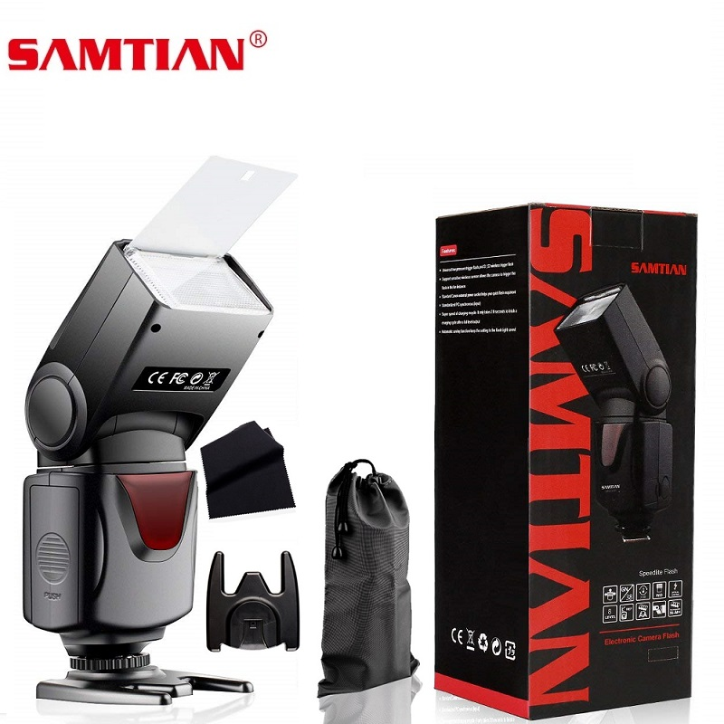 SAMTIAN T660 Wireless Camera Flash Speedlite Universal Speedlight For Canon Nikon Panasonic Olympus Pentax DSLR pixel m8 wireless universal speedlight flash light gn60 for canon nikon sony pentax fujifilm lumix dslr camera vs jy680a yn560iv