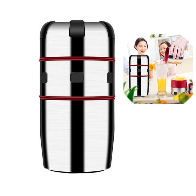 все цены на Household Supplies Stainless Steel Manual Juicer Maker Hand Press Juice Bottle Portable Fruit Squeezer Machine Cup онлайн