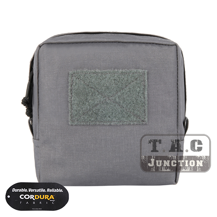 EmersonGear Tactical MOLLE 7 x 7 Utility Pouch Accessories Storage Bag Medical Admin Pouch Tool Organizer Wolf Grey