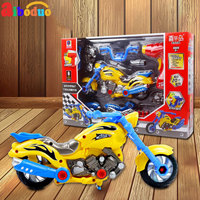 Cool motorbike Car Toy 15PCS Model Electric DIY Dismounting Toys Racing Set for Boy Birthday Gifts
