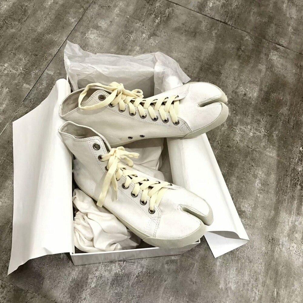 Croce Feminino Lace as Donna Cuoio Spalato Appartamenti Ginnastica Dita Toes Canapa up Piedi Tela Da legato Di Tenis As Split Dei Pic Scarpe Pic Alta WAqnx7PRw0