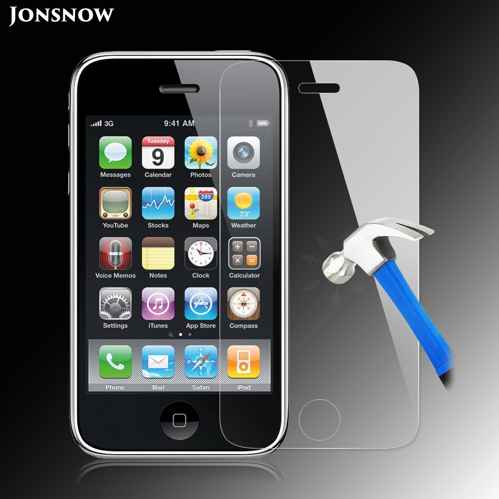 Jonsnow Tempered-Glass-Film Screen-Protector iPhone 3gs for Front LCD Explosion-Proof