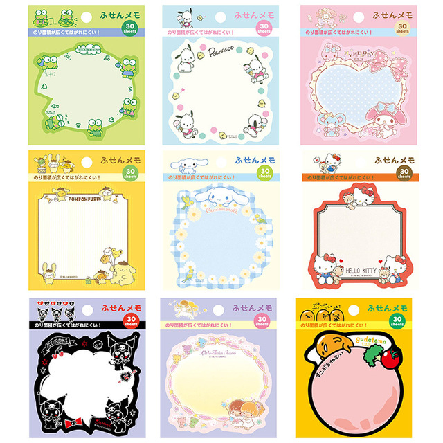 45Pcs/lot Kawaii Gudetama Melody Memo Pad Cute Stationery Sticky Notes Planner Stickers School Office Supplies Gift