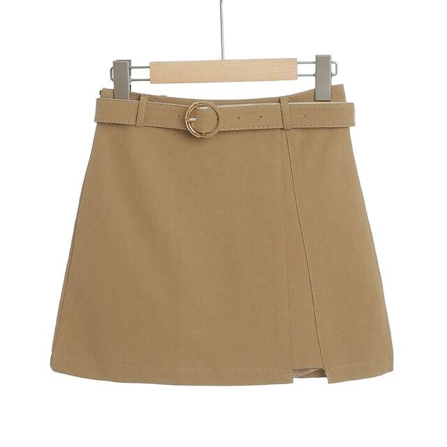 MingJieBiHuo A word package hip skirt spring and summer new Korean fashion ladies was thin irregular slit women girls skirt 3