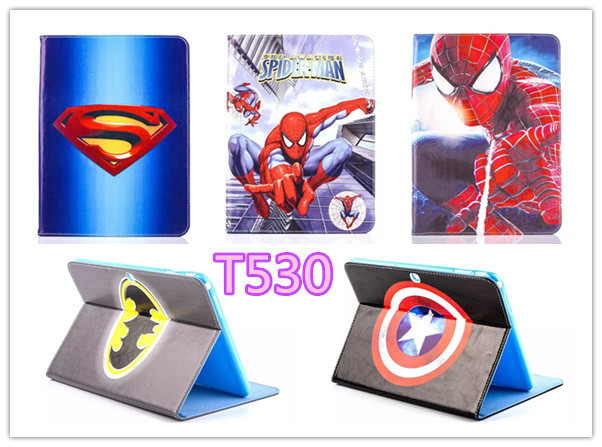 Cartoon Stand tablet case cover For Samsung Galaxy Tab 4 10 1 T530 T531 Spider Man