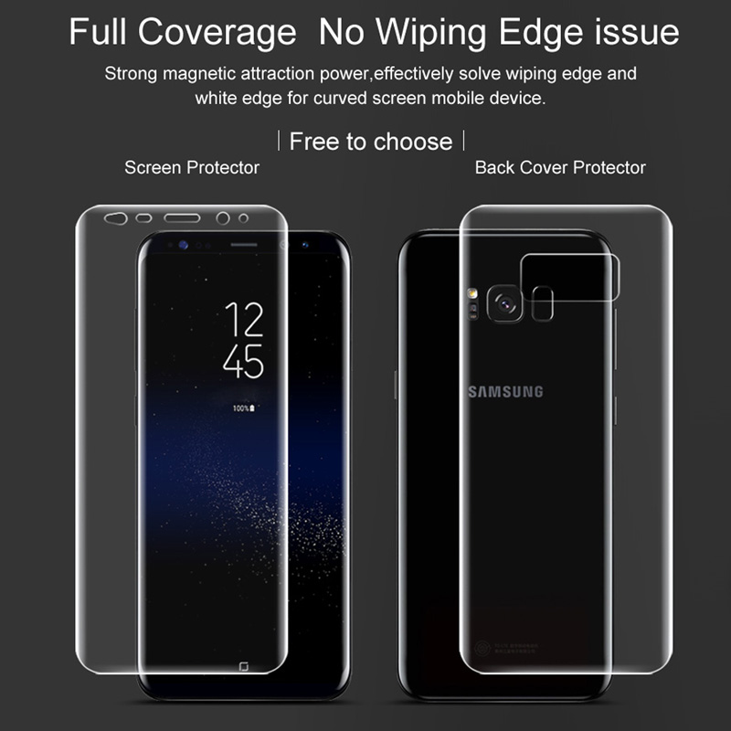 Imak soft Hydrogel film for Samsung S8 / S8+ Full Screen protector for galaxy S8 plus all standing coverage 2pcs front or back