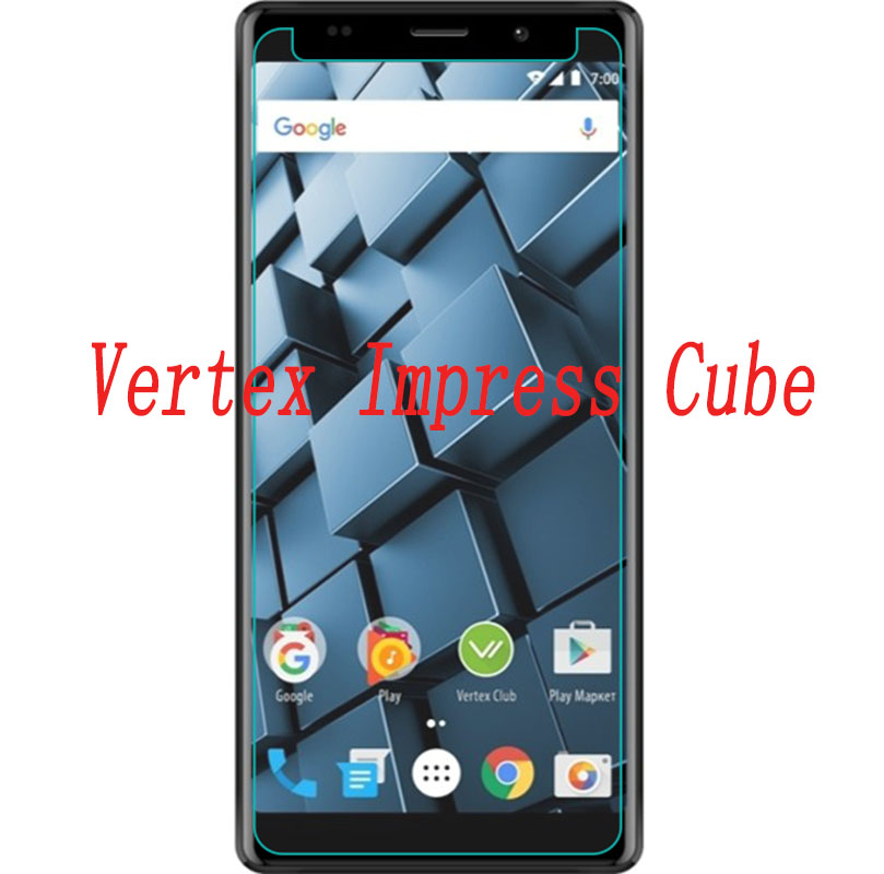 Smartphone Tempered Glass  for Vertex Impress Cube  9H Explosion-proof Protective Film Screen Protector cover phone
