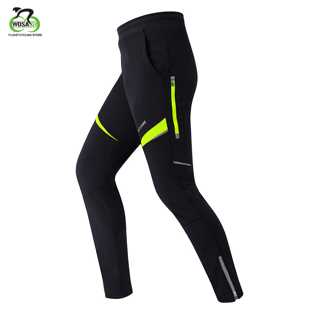 WOSAWE Cycling Pants Outdoor Sports Trousers MTB Reflective Pants Windproof Bike Bicycle Downhill Pants Men Women Clothing