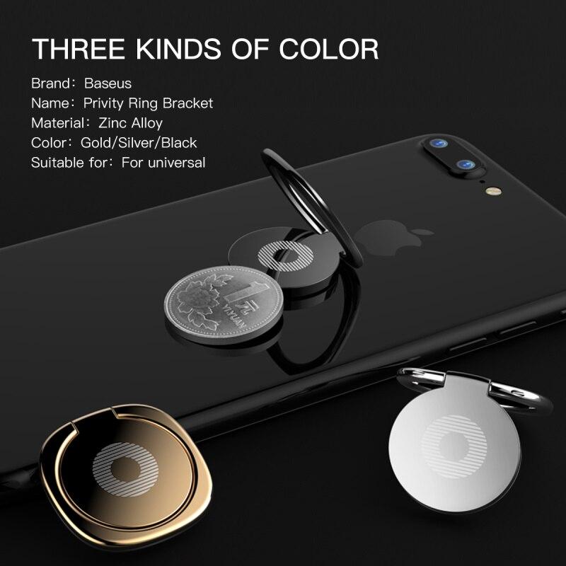 Baseus Dudukan Cincin Telepon Untuk iPhone 11 Pro Xs Max X Samsung - Aksesori dan suku cadang ponsel - Foto 3