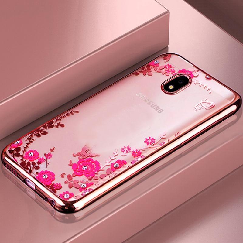 kainuen luxury etui coque cover case for samsung galaxy j7 2017 pro j730 transparent pink 3d