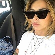 2018 Austrália Estilo Adolescente Moda Cateye Olho de Gato Do Vintage Óculos  De Sol Das Mulheres Marca de Luxo Óculos de Sol Fem. 736eefda48