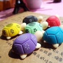 60 шт./лот милая форма черепахи ластик для детей студентов резиновые ластики канцелярские товары детские офисные школьные принадлежности