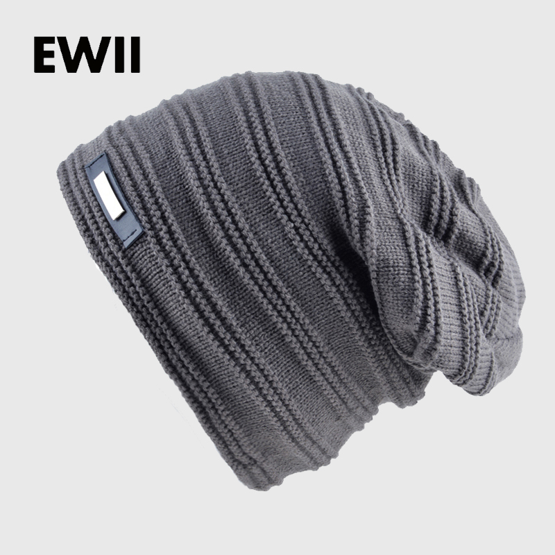 2017 Bonnet skullies muži zimní klobouk chlapec pletené čepice klobouky pro muže čapky teplé čepice gorro ruština ushanka vlna teplé čepice kosti