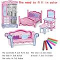 3 г светло-цветной рисунок или узор головоломки Дети цвет в цвет diy ремесло бумаги головоломки Родитель-игрушка ребенка