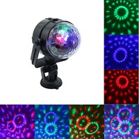 Mini USB Auto RGB LED Crystal Magic Ball Stage Lighting Effect Lamp Magic Party Club Car