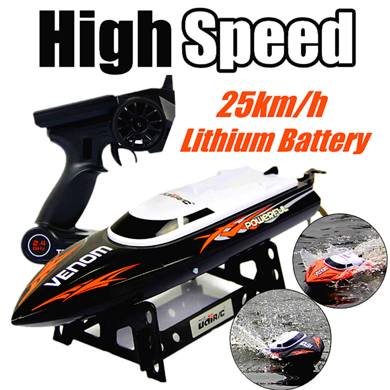 ФОТО Great Promotion 2.4G RC Boat UDI udi001 boat Infinitely Variable Speeds/high Speed Racing Boat 32CM 25km/h Best Gift
