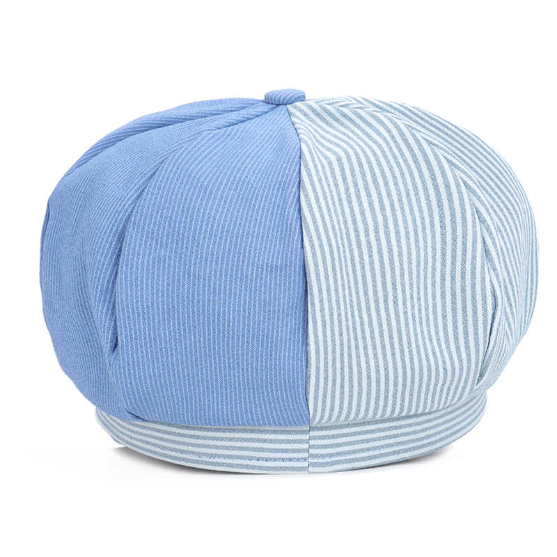 8d127082b89 ... 2019 New Fashion Striped Ladies Octagonal Cap High Quality Newsboy Hat  Women Painter Hat Solid Women s ...