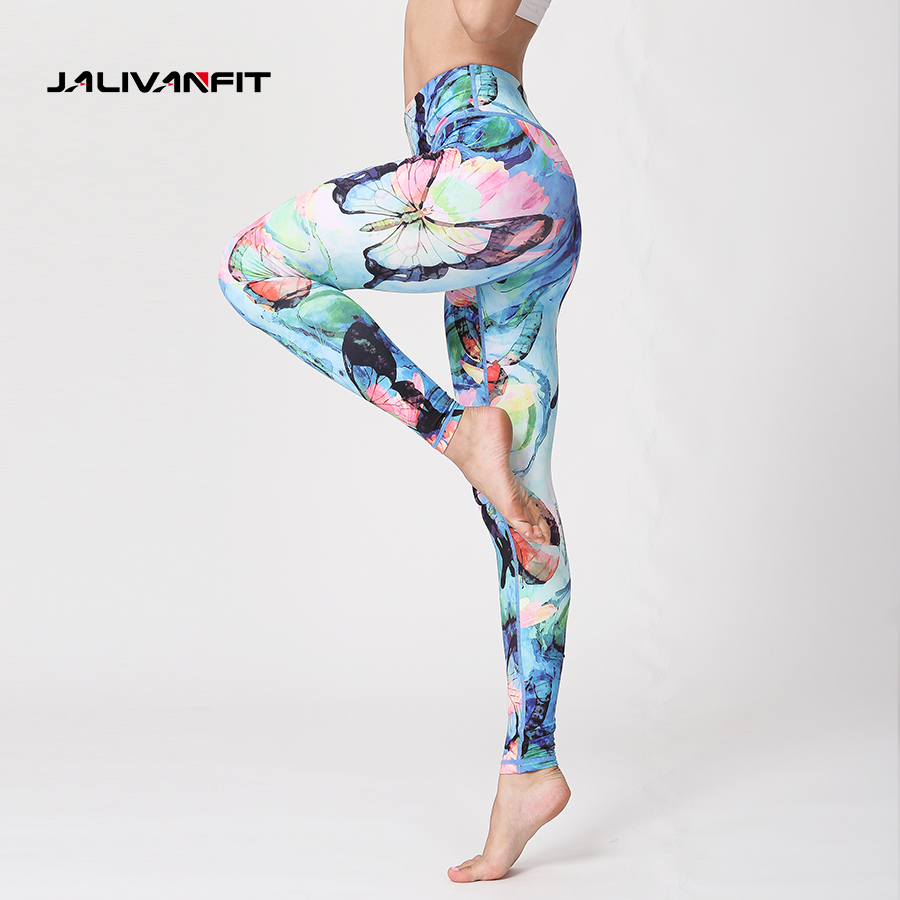 Sexy Printed Sport Fitness Runing Leggings Elasticity Yoga Pant High Waist Compression Women Sports Tights Female Sportswear