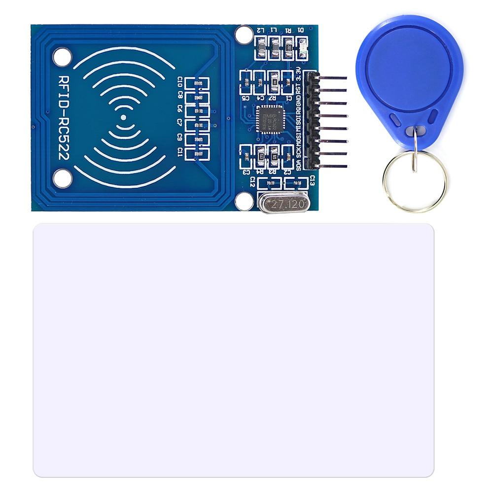 Модуль RFID RC522 13,56 МГц, считыватель и записывающий модуль с RFID-меткой, S50 Fudan, карточный ключ, SPI, считывание и запись для Arduino Uno / Mega2560
