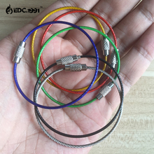 5pcs/lot Outdoor Camping coloful EDC gear Multifunctional Wire Rope Key PVC Ring Chain Edc Tool