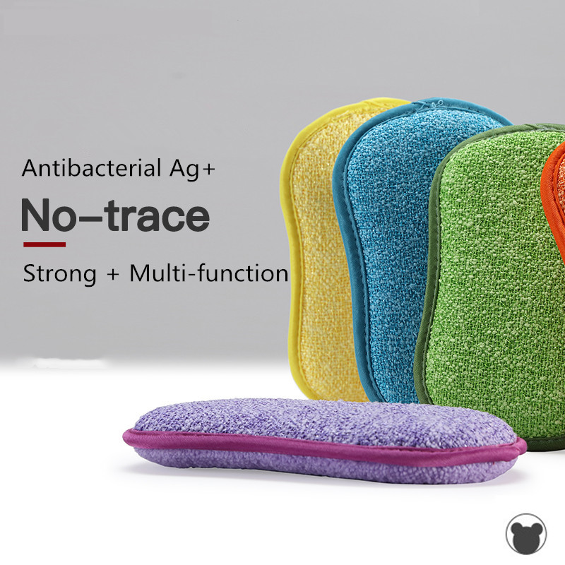 Image 2 - 5pcs Anti microbial cleaning sponge magic sponge melamine sponges kitchen sponge for washing dishes kitchen scourer pan brush-in Sponges & Scouring Pads from Home & Garden