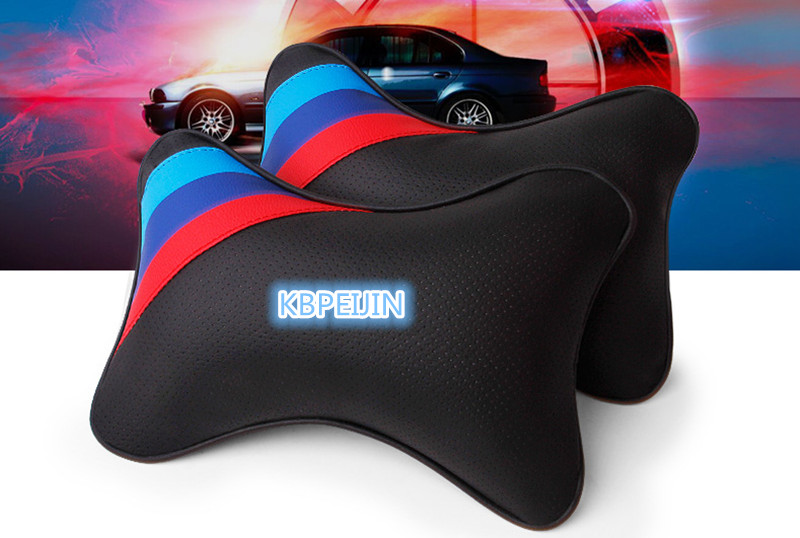 2pcs Car Seat Neck Pillow Leather Comfortable Headrest For Ford mondeo kuga fiesta Focus2 3 ecosport fusion ranger accessories
