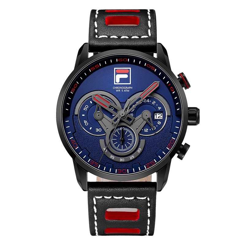 2017 Fila Men's Fashion Sport Watches Men Quartz Analog Date Clock Man Leather Military Waterproof Watch Relogio Masculino 785 weide popular brand new fashion digital led watch men waterproof sport watches man white dial stainless steel relogio masculino