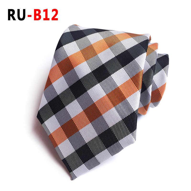 2018 nouvelle soie Jacquard 8 cm mode Plaid cravate costume cravate d'affaires