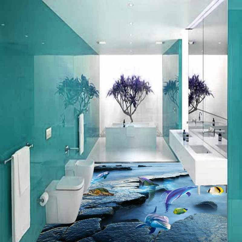 Free Shipping Mountain bathroom 3D floor thickened non-slip living room bedroom coffee house study kitchen flooring mural free shipping realistic large pond carp floor 3d wear non slip thickened kitchen living room bathroom flooring wallpaper mural
