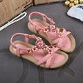 summer women sandals 2016 gladiator sandals women shoes Bohemia flat shoes sandalias mujer ladies shoes new flip flops  DT239