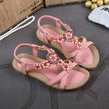 summer women sandals 2016 gladiator sandals women shoes Bohemia flat shoes sandalias mujer ladies shoes new flip flops  DT239 римские сандали