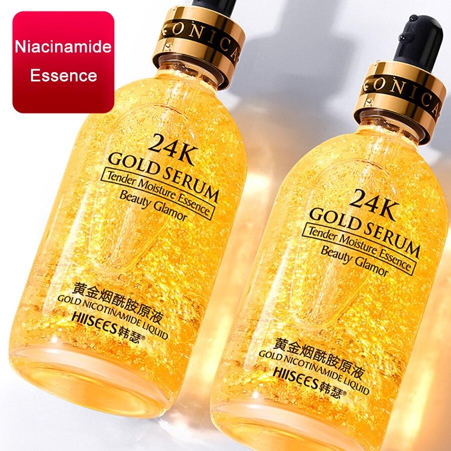 24k Gold Face Serum Hyaluronic Acid Serum Moisturizer Essence Cream Whitening Day Creams Anti Aging Anti Wrinkle Acne Art