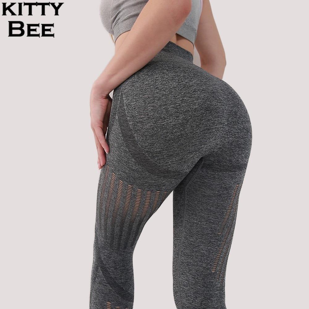 Sport Leggings Fitness Women Gym Sexy Yoga Pants High Waist Vital Seamless Athletic Sports Wear For