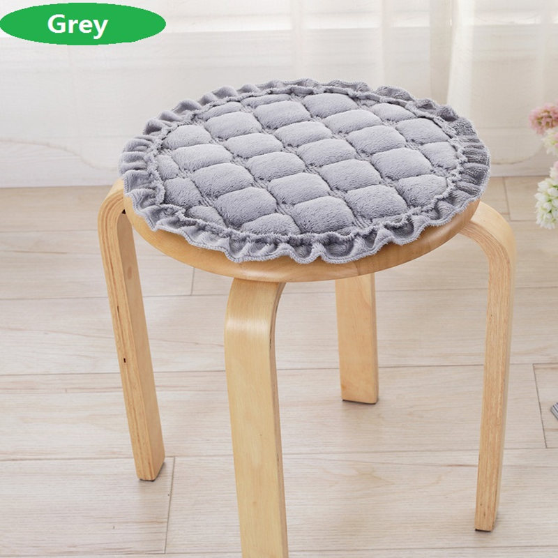 Solid Color Home Chair Cushion Winter Office Seat Pad Comfortable Seat Cushion Can Be Fixed On Chair Europe Round Chair Cushion