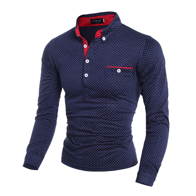 New Business Men Polo Shirt Casual Plus Size 3XL Full Sleeve Shirt ...