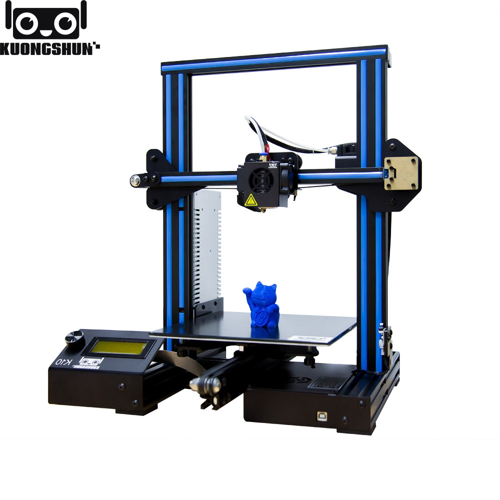 Kuongshun K10 Open Source Fast Assembly 3D Printer 220 220 260 High PFrinting Accur Good Adhesion