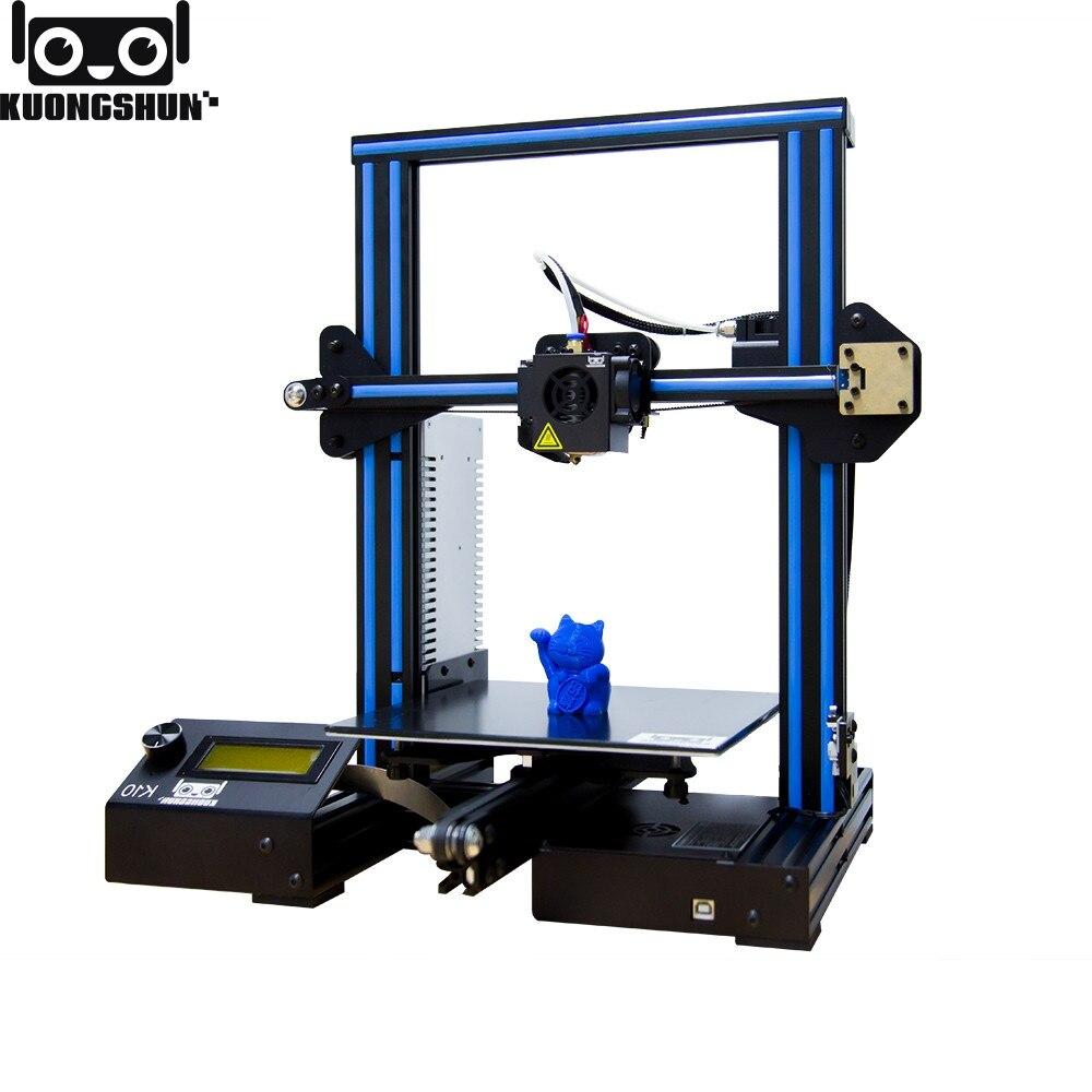 Kuongshun K10 オープンソースの高速組立 3D プリンタ 220*220*260 高 PFrinting Accur 良好な接着性プラットフォーム impresora 3d  グループ上の パソコン & オフィス からの 3D プリンタ の中 1