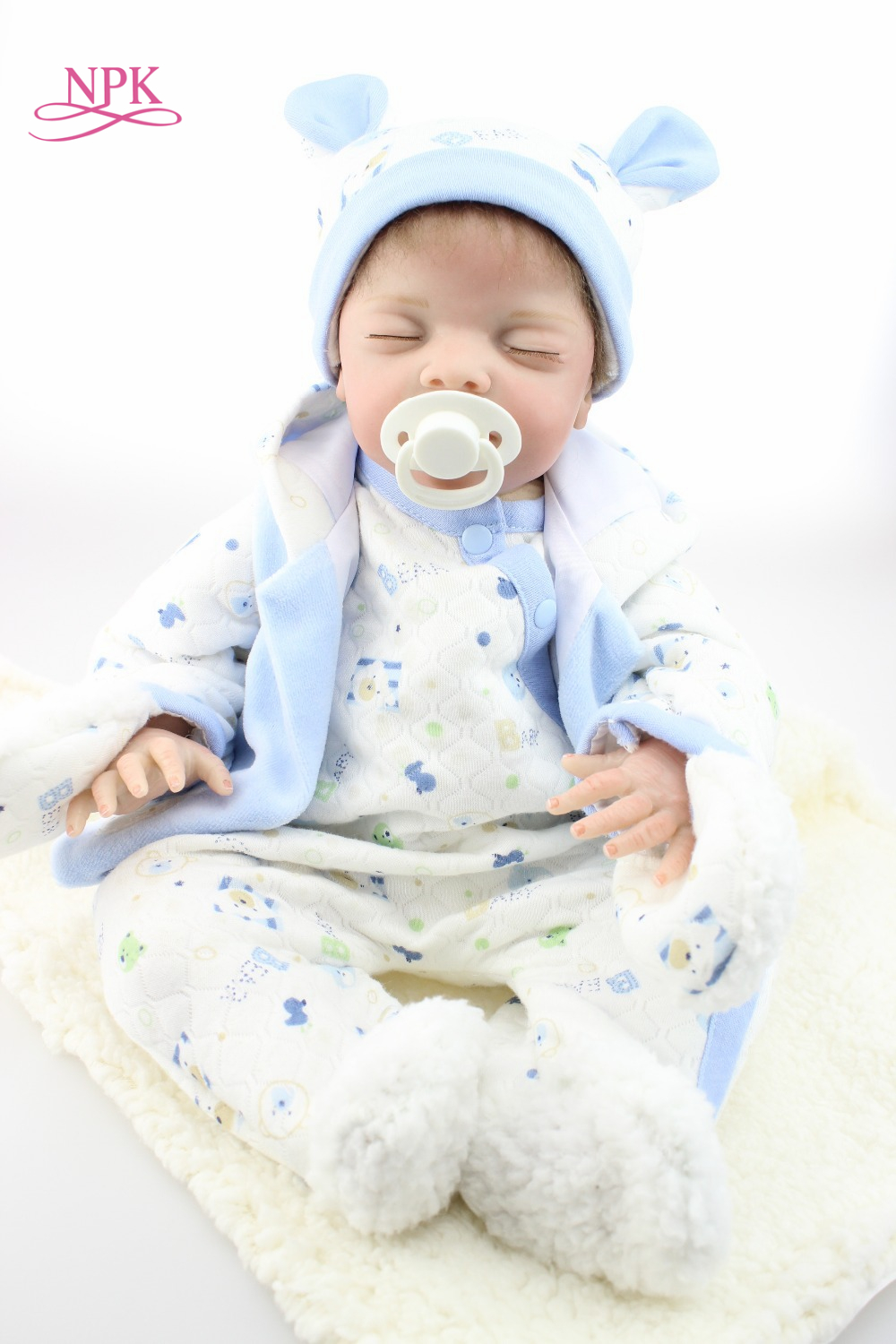 NPK reborn doll with soft real gentle touch hotsale lifelike reborn baby dolls fashion doll silicone vinyl for child