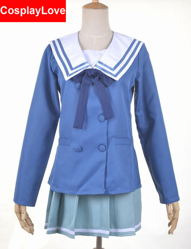 Kyokai no kanata Beyond the Boundary Mirai Kuriyama/Mitsuki Nase Cosplay Costume Custom-made For Halloween Christmas CosplayLove