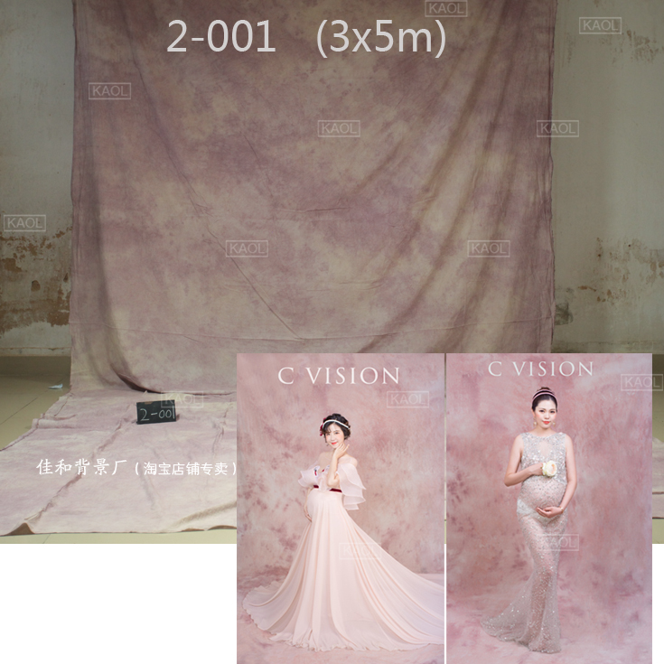 Fond de mariage cravate teints mousseline décors pour studio de photographie peint à la main famille portrait décors photographiques 2001