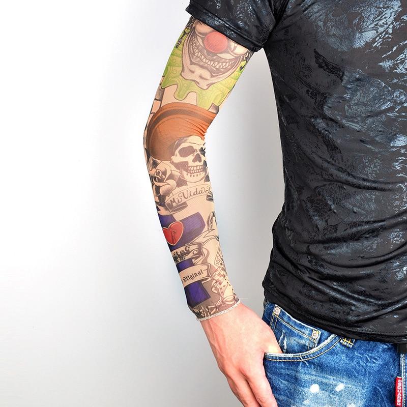 Fashion Tattoo Sleeves Arm Warmer Unisex Protection Outdoor Temporary Fake Tattoo Arm Sleeve Anti-Sunshine High Elastic