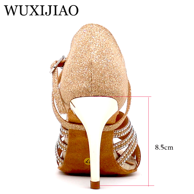 3f36ca6da [HOT DEAL] US $27.55 for WUXIJIAO Ms ballroom dancing shoes soft bottom  sequined cloth set auger modern women shoes high heel shoes